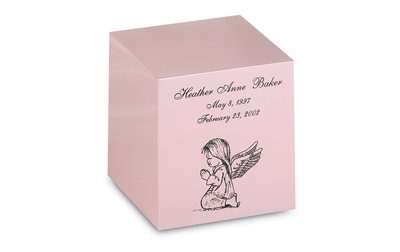 Pink Bronze Cube Infant Keepsake