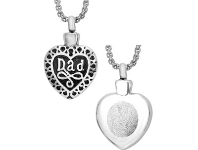Dad Heart Pendant Keepsake (Urn)