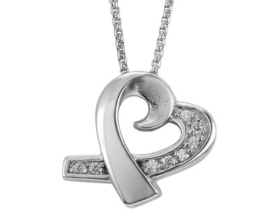 Jewel Heart Pendant Keepsake (Urn)
